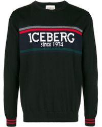 Iceberg - Logo Print Wool Jumper - Lyst