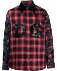 Dolce & Gabbana Camicia con patch dg - Rosso