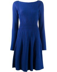 Emporio Armani - Textured Long-sleeved Dress - Lyst