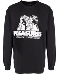 Pleasures Embroidered-logo Cotton Jumper - Black