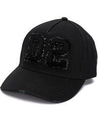 DSquared² D2 Logo Patch Cap - Black