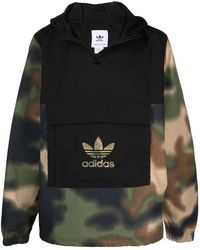 adidas Originals Camouflage-panel Jacket - Black