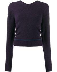 Chloé V-neck Sweater - Blue