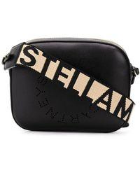 Stella McCartney Stella Logo Shoulder Bag - Black
