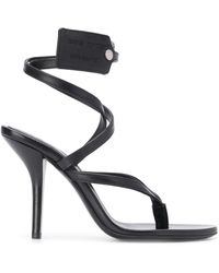 Off-White c/o Virgil Abloh Zip-tie Tag Strappy Sandals - Black