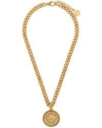 Versace - Medusa Logo Medallion Necklace - Lyst