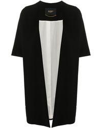 Seventy Short-sleeve Draped Cardi Coat - Black