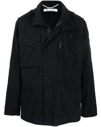Off-White c/o Virgil Abloh Arrows-print Field Jacket - Black