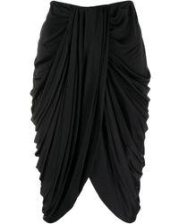 Isabel Marant Drape-detail High-waisted Skirt - Black