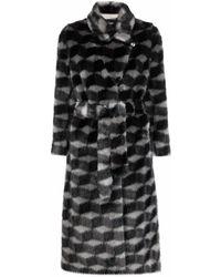 Emporio Armani Coats Black