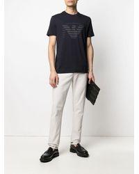 Emporio Armani T-shirt con stampa - Blu