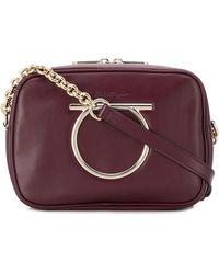 Ferragamo - Vela Leather Shoulder Bag - Lyst