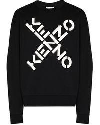 KENZO Felpa oversize con stampa - Nero