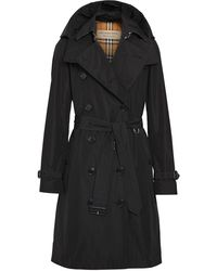 Burberry Detachable Hood Trench Coat - Black