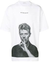 ih nom uh nit David Bowie Silence T-shirt - White