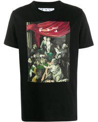 Off-White c/o Virgil Abloh Caravaggio-print T-shirt - Black