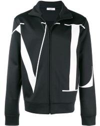 Valentino - High Neck Sweatshirt In Jersey - Lyst