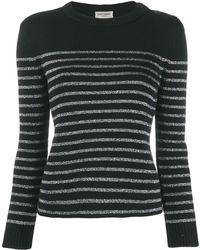 Saint Laurent Round-neck Striped Knitwear - Multicolor