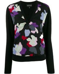 Emporio Armani Printed Sweater - Black
