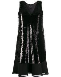 Emporio Armani Sequinned Dress - Black