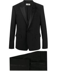 Saint Laurent Silk-trimmed Tuxedo Jacket - Black