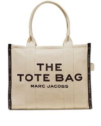 Marc Jacobs The Jacquard Traveller Tote Bag - Natural