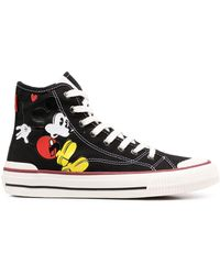 MOA Mickey Mouse High-top Sneakers - Black