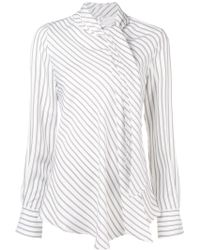 See By Chloé - Striped High Neck Top - Lyst