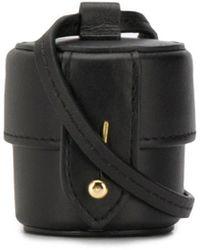 Jacquemus Vanity Leather Micro Clutch - Black
