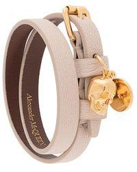 Alexander McQueen Skull-charm Wrap-around Bracelet - Multicolor