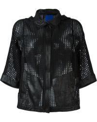 Demoo Parkchoonmoo - Oversize Eyelet-design Jacket - Lyst