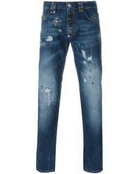 Philipp Plein Slim Fit Jeans - Blue