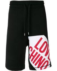 Love Moschino - Logo Track Shorts - Lyst