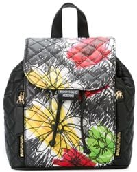 Boutique Moschino - Backpack With Floral Print - Lyst