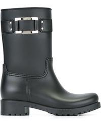 Roger Vivier Buckled Rubber Boots - Multicolour