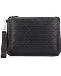 Emporio Armani Zipped Leather Wallet - Black