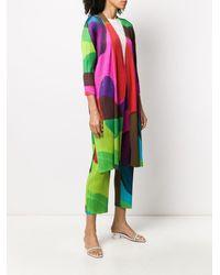 Pleats Please Issey Miyake Cappotto con design color-block - Rosa