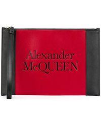 Alexander McQueen Clutch con design color-block - Nero