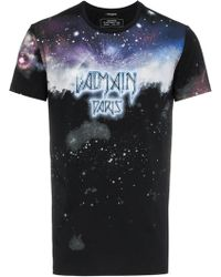 ecd3a08763991d Off-White C O Virgil Abloh Galaxy-print Long-sleeved Cotton T-shirt ...
