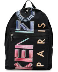 KENZO Paris Logo Backpack - Black