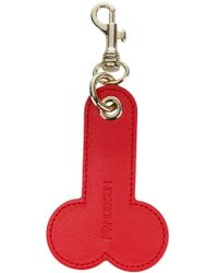 JW Anderson Leather Keyring - Red
