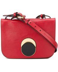 Marni Pois Leather Shoulder Bag - Red