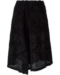 Issey Miyake Cauliflower - Embroidered Skirt - Lyst
