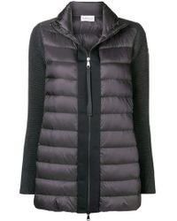Moncler - Down Padded Knit Cardigan - Lyst