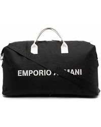 Emporio Armani Logo-print Tote Bag - Black