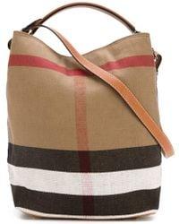 Burberry   Ashby Medium Bucket Bag   Lyst