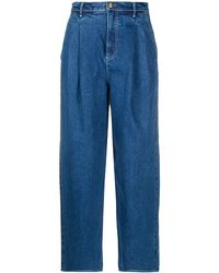 Tory Burch Jeans dritti con pieghe - Blu