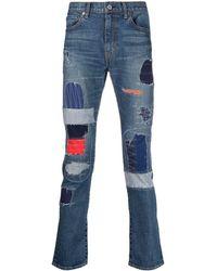 Junya Watanabe Patchwork Slim-fit Jeans - Blue