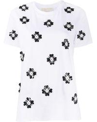 MICHAEL Michael Kors Embellished Crew Neck T-shirt - White