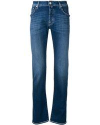 Jacob Cohen Jeans 5 Tasche In Cotone - Blu